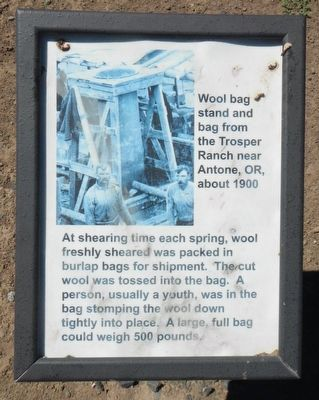 Wool Bag Stand Marker image. Click for full size.