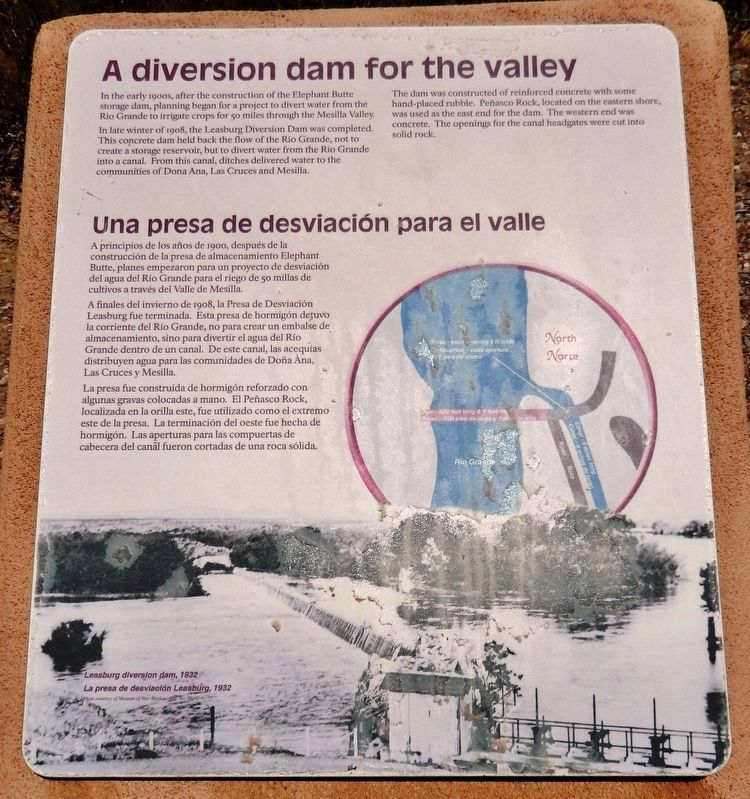 A Diversion Dam for the Valley Marker image. Click for full size.