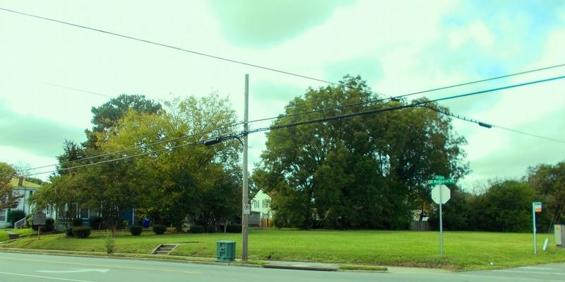 <b>Exhibit D</b> – Nansemond Industrial Institute marker site from afar. image. Click for full size.