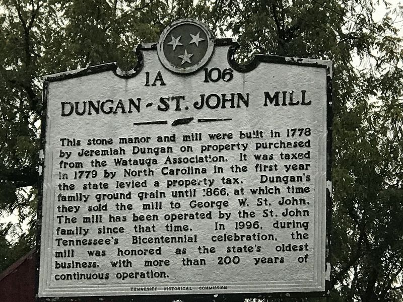 Dungan-St. John Mill Marker image. Click for full size.