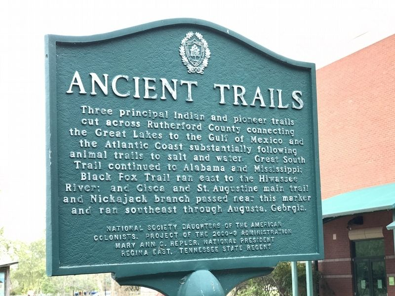Ancient Trails Marker image. Click for full size.