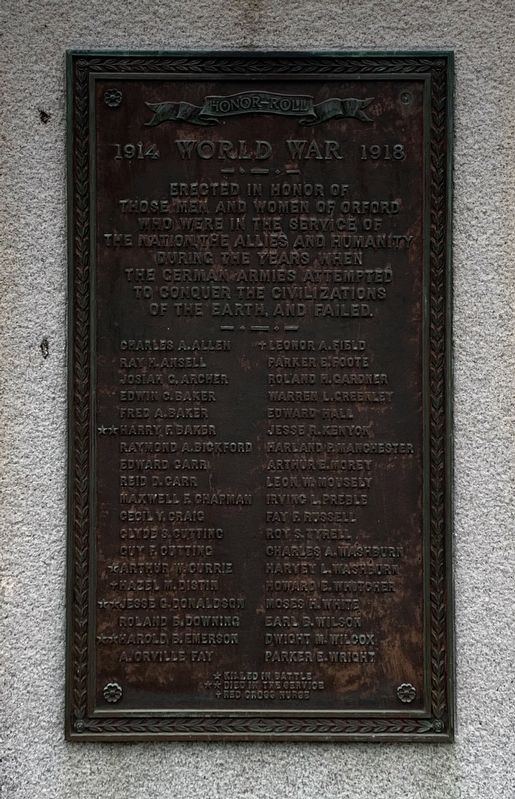 Orford World War Memorial image. Click for full size.