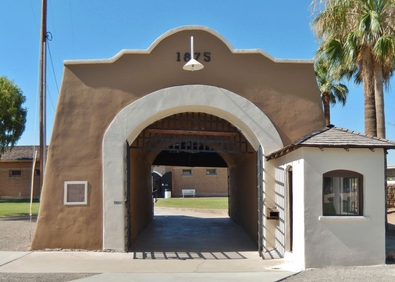 Yuma Territorial Prison Entrance image. Click for full size.