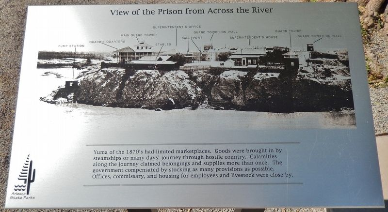 View of the Prison from Across the River Marker image. Click for full size.