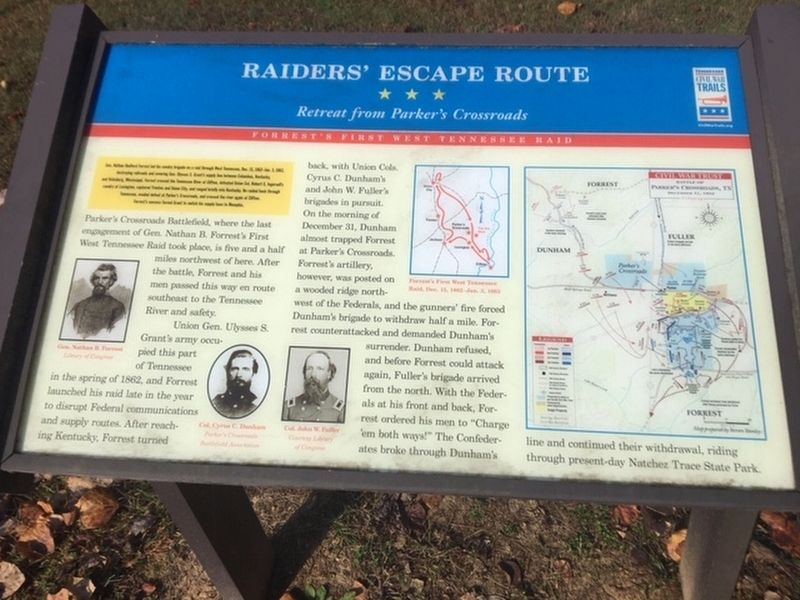 Raiders' Escape Route Marker image. Click for full size.