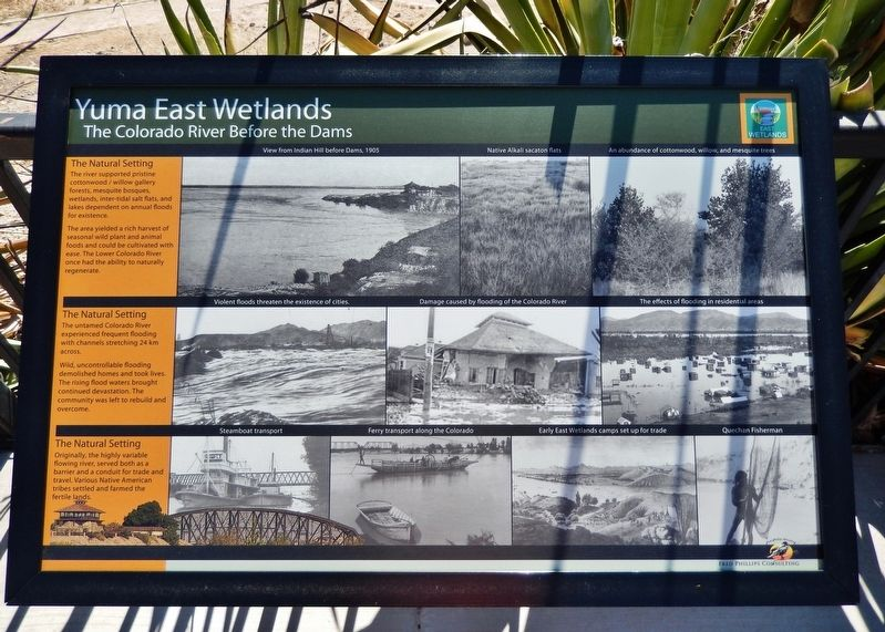 Yuma East Wetlands Marker image. Click for full size.