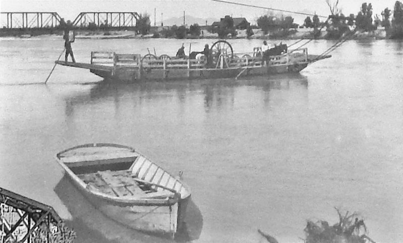Marker detail: Ferry transport along the Colorado River image. Click for full size.