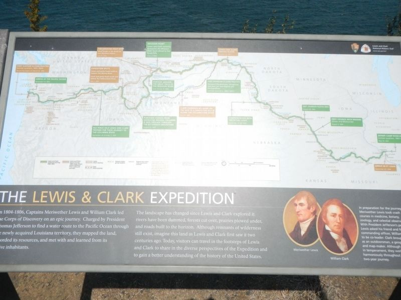 The Lewis & Clark Expedition Marker image. Click for full size.