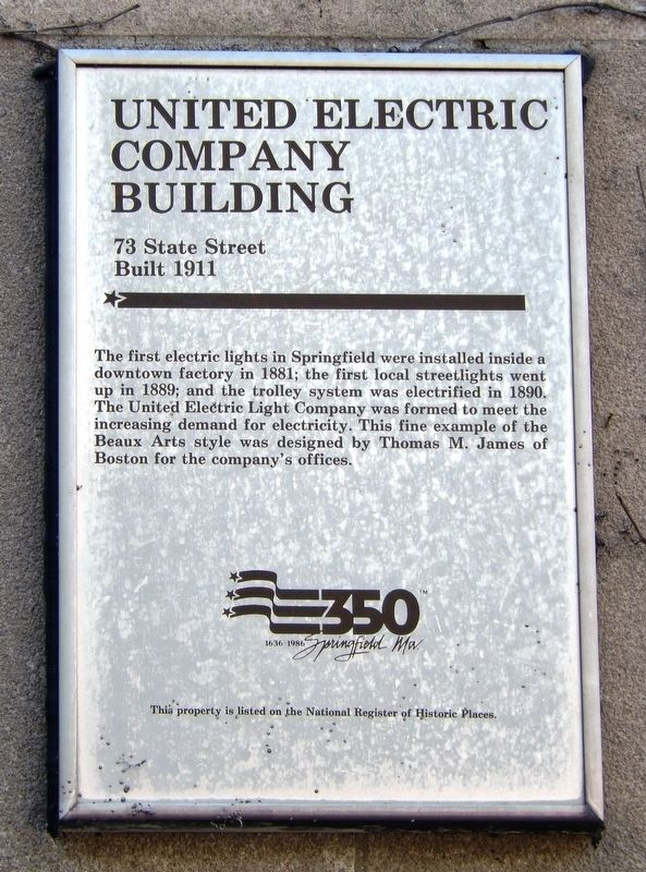 United Electric Company Building Marker image. Click for full size.