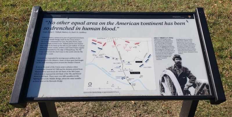 Capt. John C. Tidball, Battery A, 2nd U.S. Artillery Marker image. Click for full size.