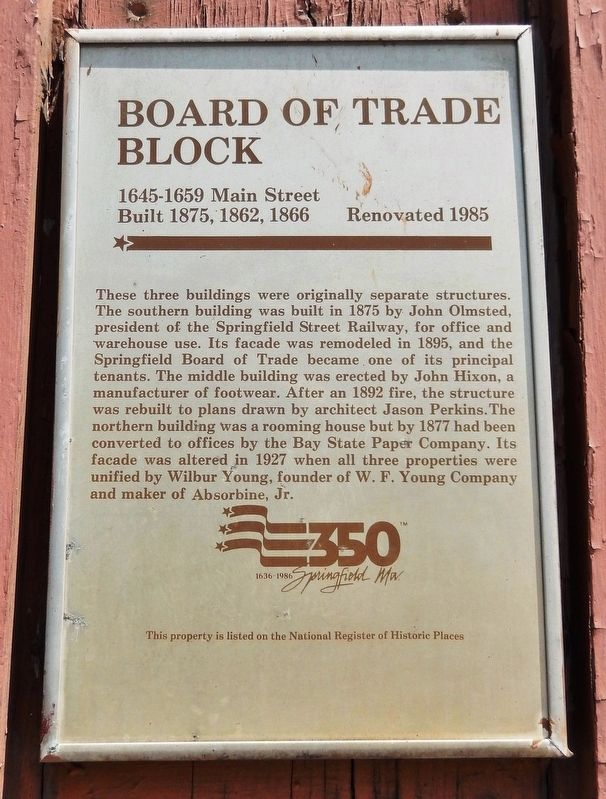 Board of Trade Block Marker image. Click for full size.