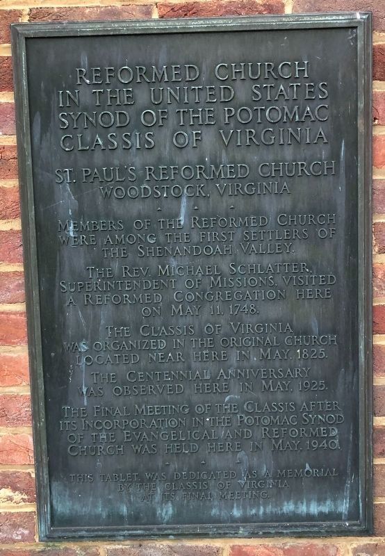 Reformed Church in the United States Marker image. Click for full size.