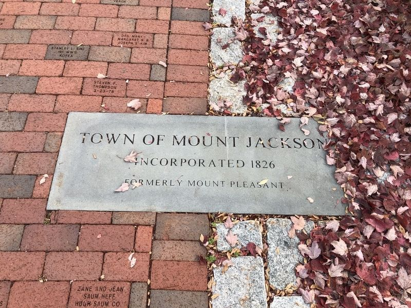 Town of Mount Jackson Marker image. Click for full size.