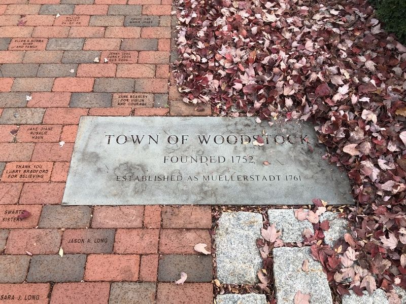 Town of Woodstock Marker image. Click for full size.