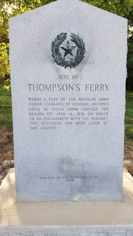 Site of Thompson's Ferry Marker image. Click for full size.
