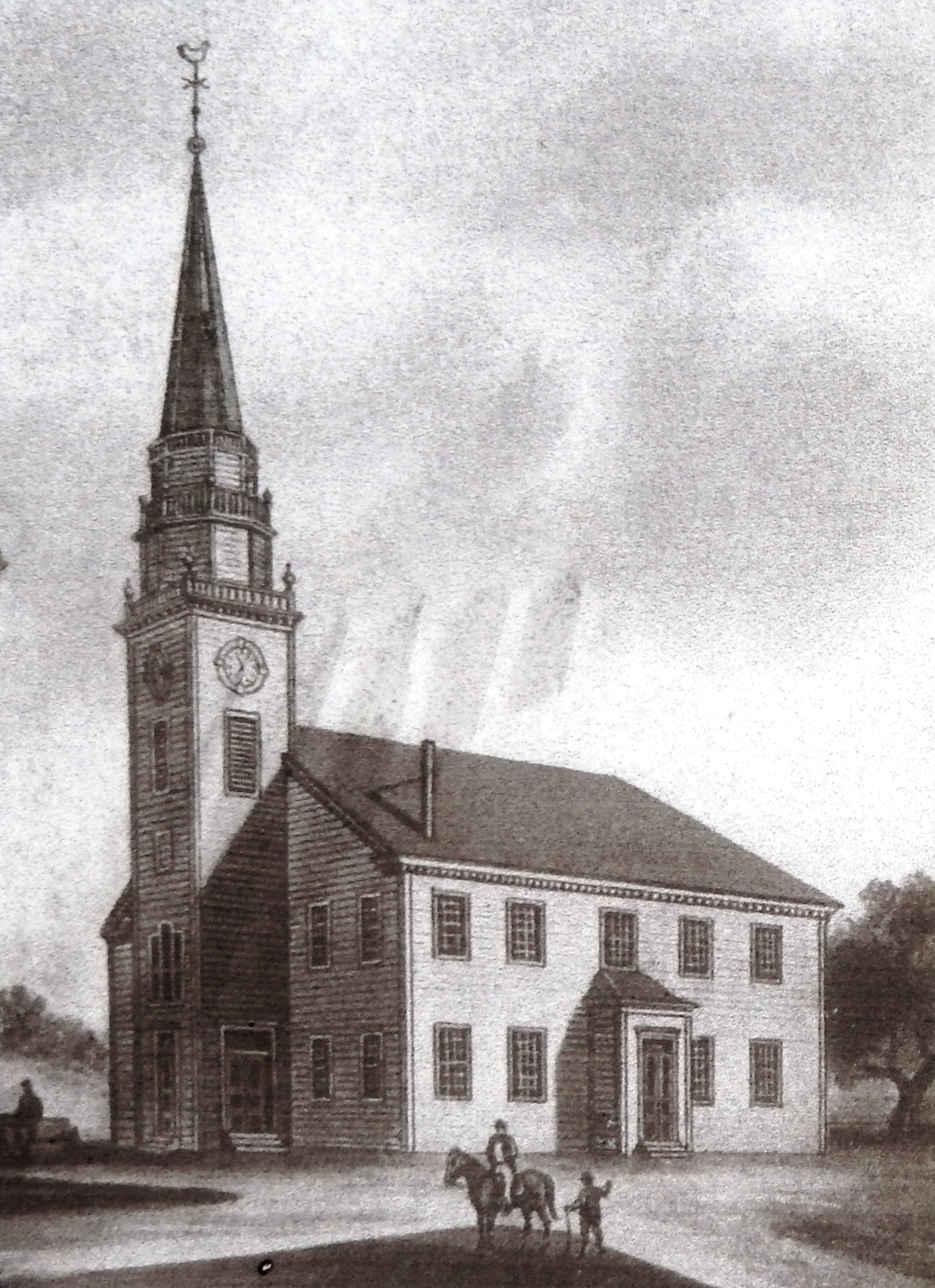 Marker detail: Third Meetinghouse <i>1752</i>