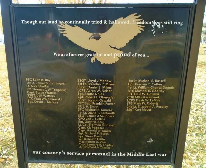 Middle East [Desert Storm] War Memorial image. Click for full size.