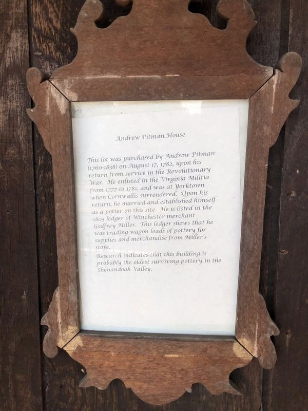 Andrew Pitman House Marker image. Click for full size.