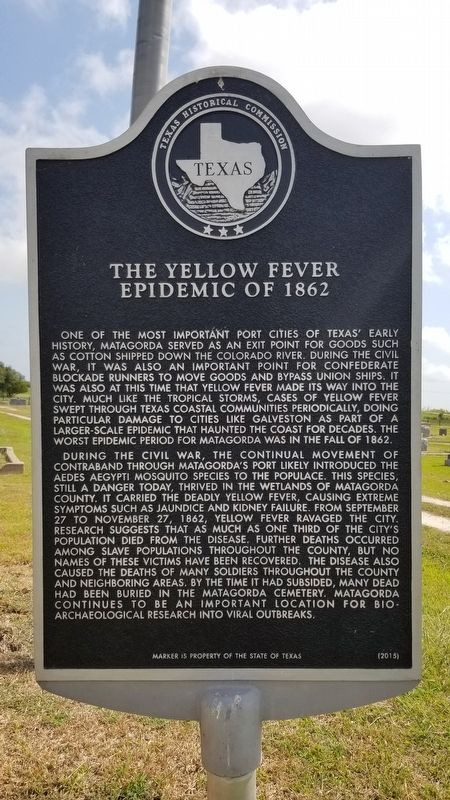 The Yellow Fever Epidemic of 1862 Marker image. Click for full size.