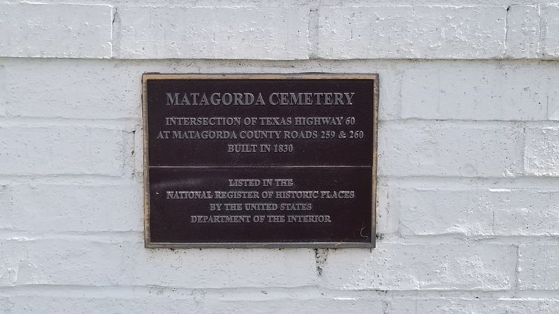 Matagorda Cemetery Marker image. Click for full size.