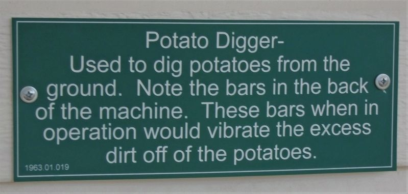 Potato Digger Marker image. Click for full size.