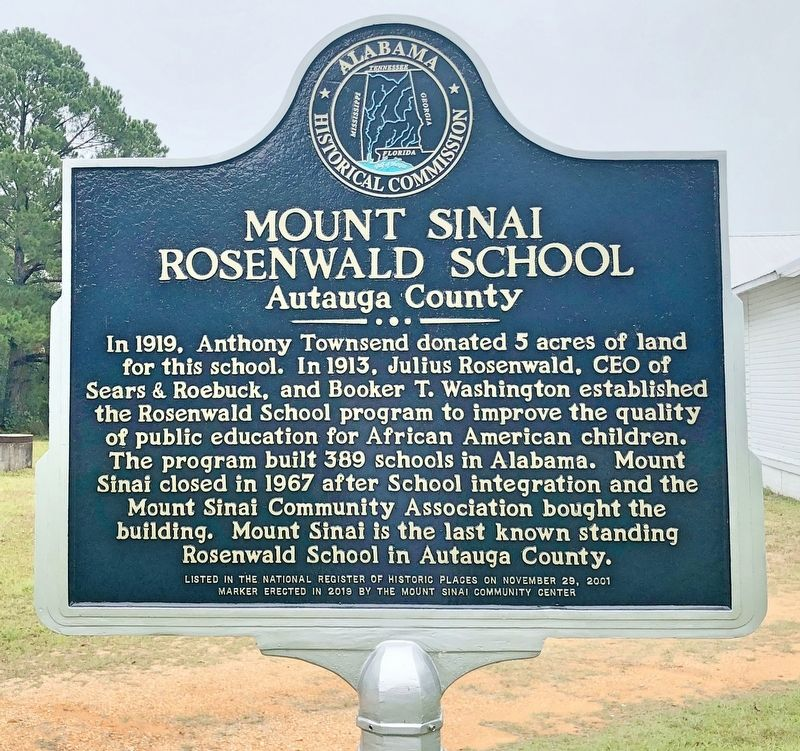 Mount Sinai Rosenwald School Marker image. Click for full size.