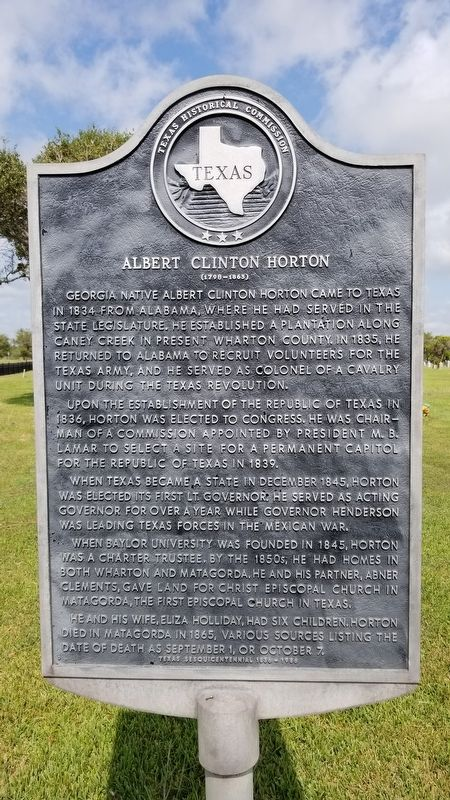 Albert Clinton Horton Marker image. Click for full size.