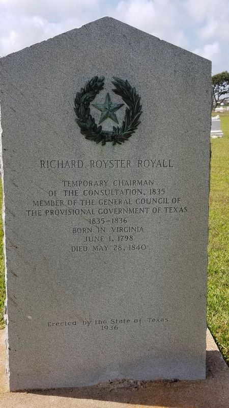 Richard Royster Royall Marker image. Click for full size.