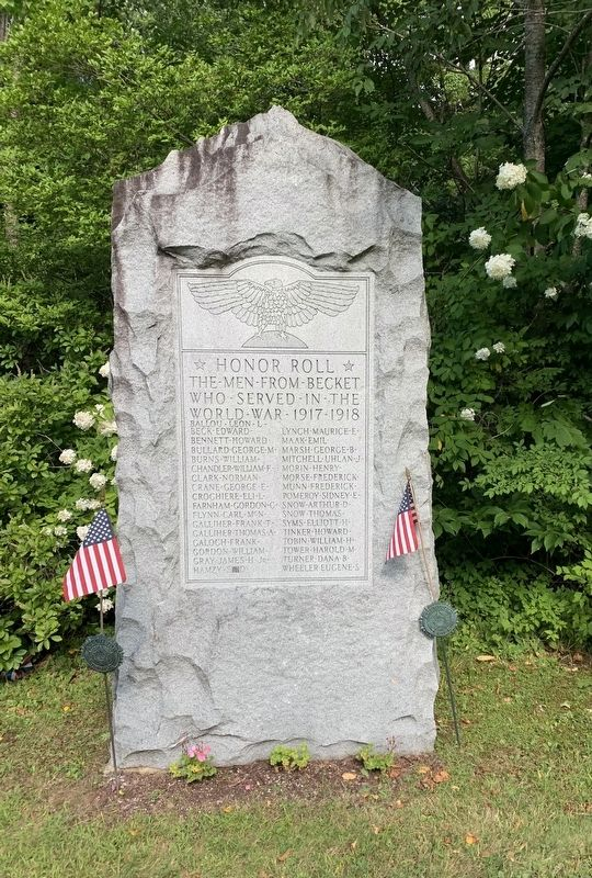Town of Becket World War Memorial image. Click for full size.