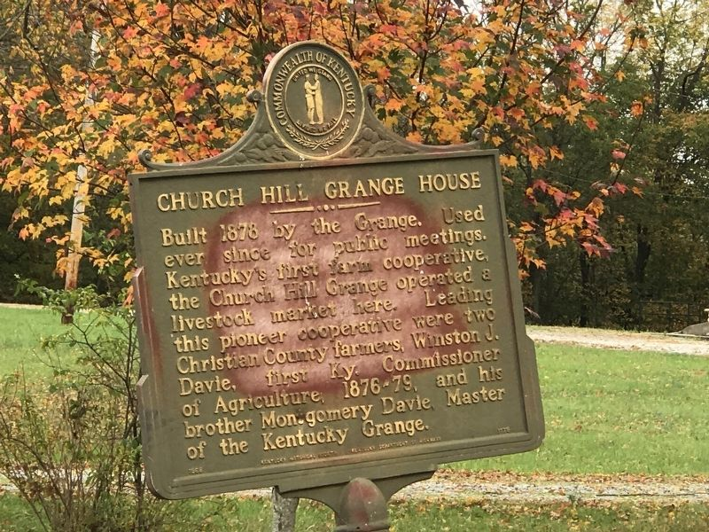 Church Hill Grange House Marker image. Click for full size.