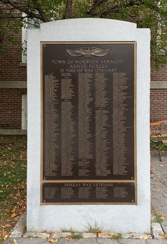 Town of Norwich War Memorial image. Click for full size.