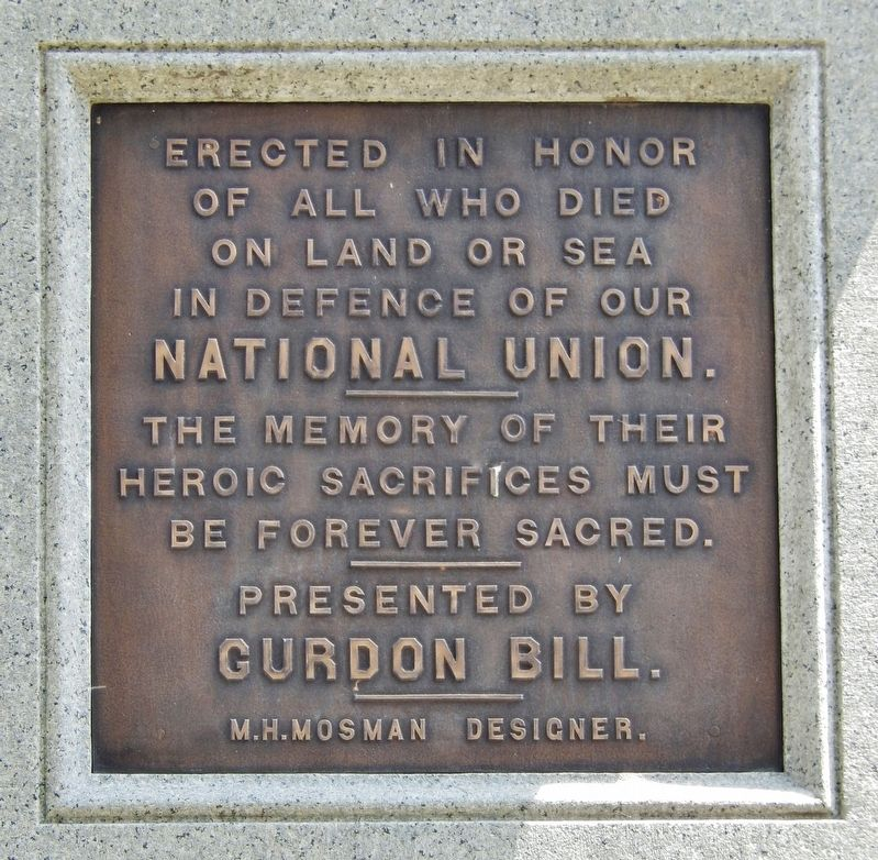 Springfield Soldiers and Sailors Monument<br>(<i>south plaque</i>) image. Click for full size.