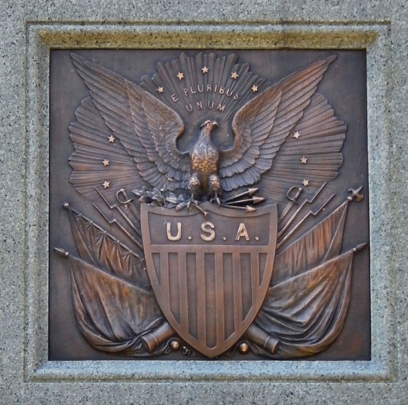 Springfield Soldiers and Sailors Monument<br>(<i>north plaque</i>) image. Click for full size.