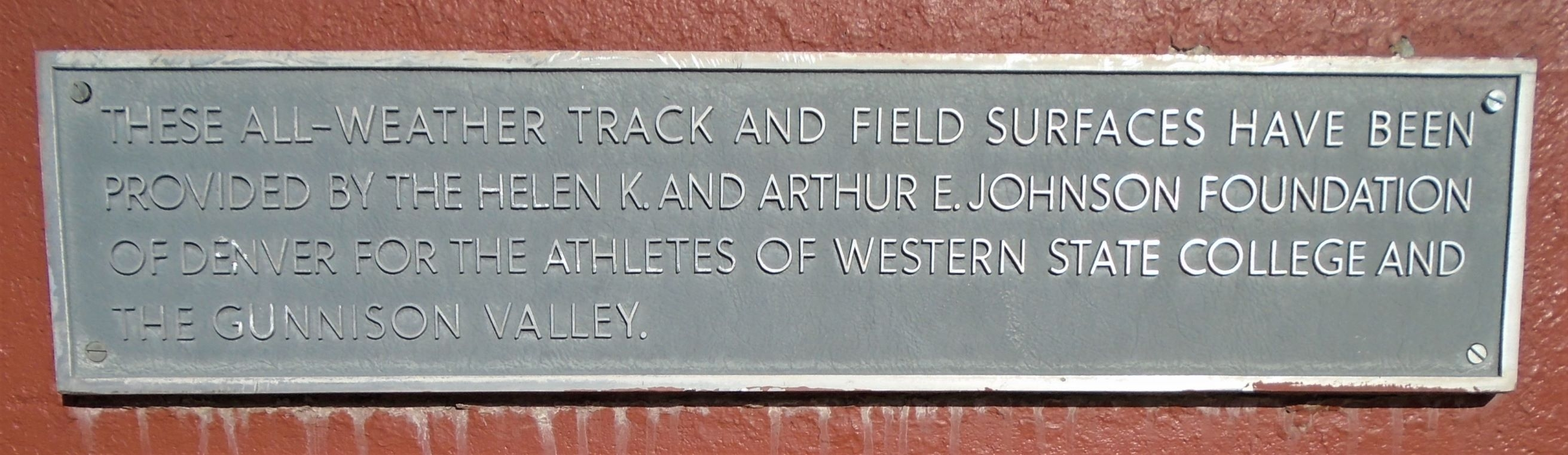 Mountaineer Bowl Track Marker