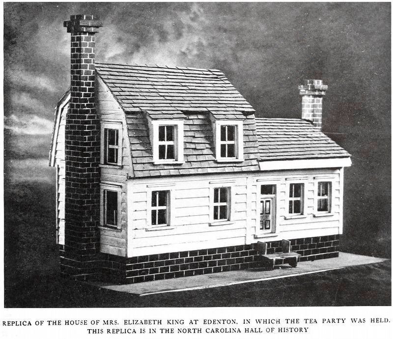 Residence of Mrs. Elizabeth King<br>In Which the Tea Party was Held image. Click for full size.