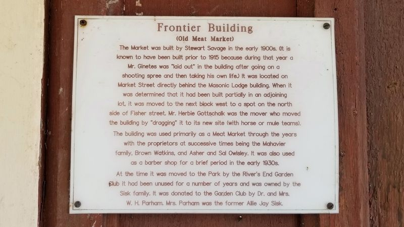 Frontier Building Marker image. Click for full size.