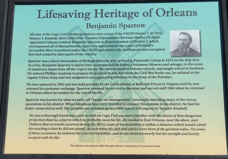 Benjamin Sparrow Marker image. Click for full size.