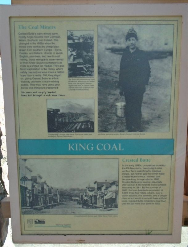 King Coal Marker image. Click for full size.