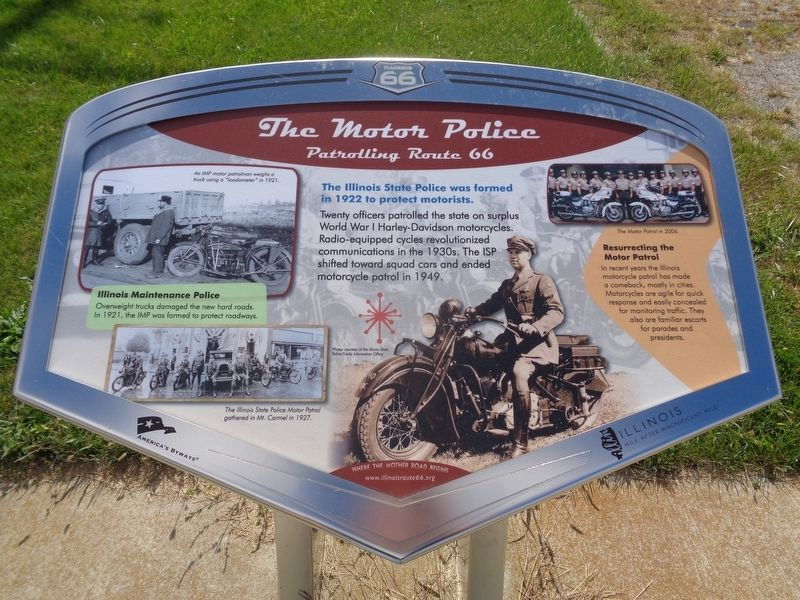 The Motor Police Marker image. Click for full size.