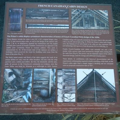 French-Canadian Cabin Design Marker image. Click for full size.