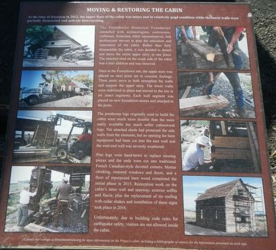 Moving & Restoring the Cabin Marker image. Click for full size.