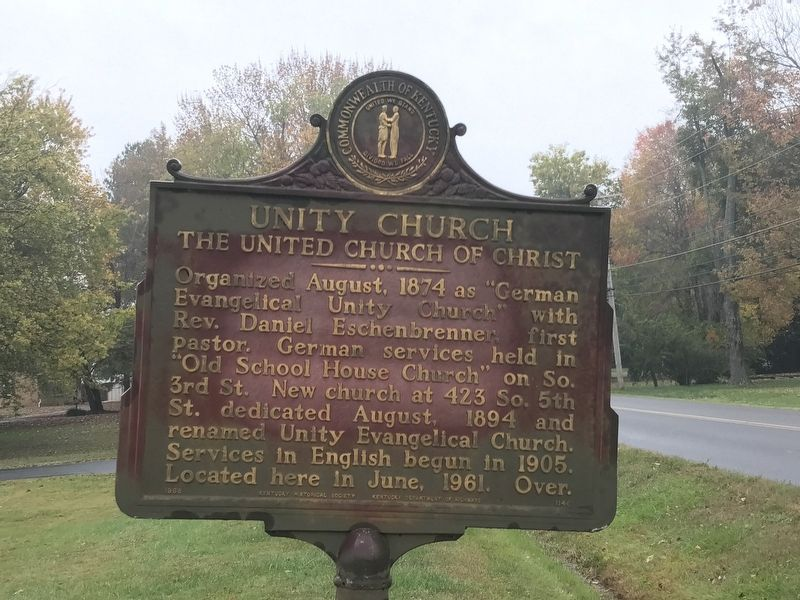 Unity Church Marker (Side 1) image. Click for full size.