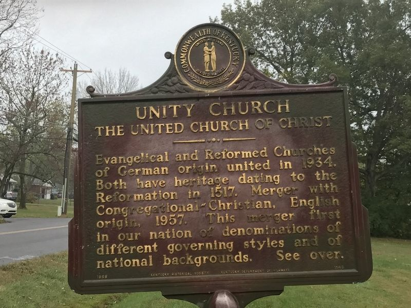 Unity Church Marker (Side 2) image. Click for full size.