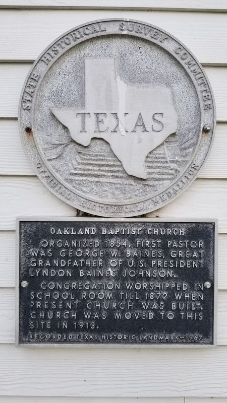 Oakland Baptist Church Marker image. Click for full size.