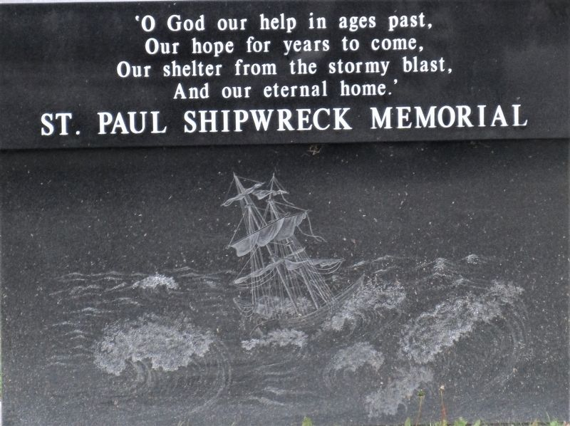 Shipwreck History Marker image. Click for full size.