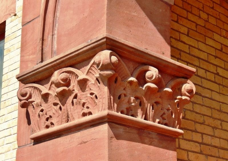 Kanabec County Courthouse (<i>sandstone detail</i>) image. Click for full size.