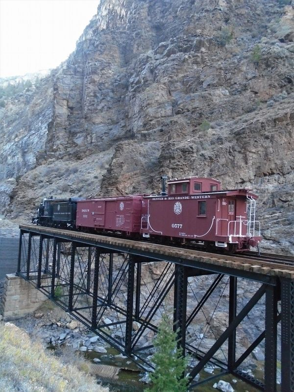 Cimarron Canyon Rail Exhibit image. Click for full size.