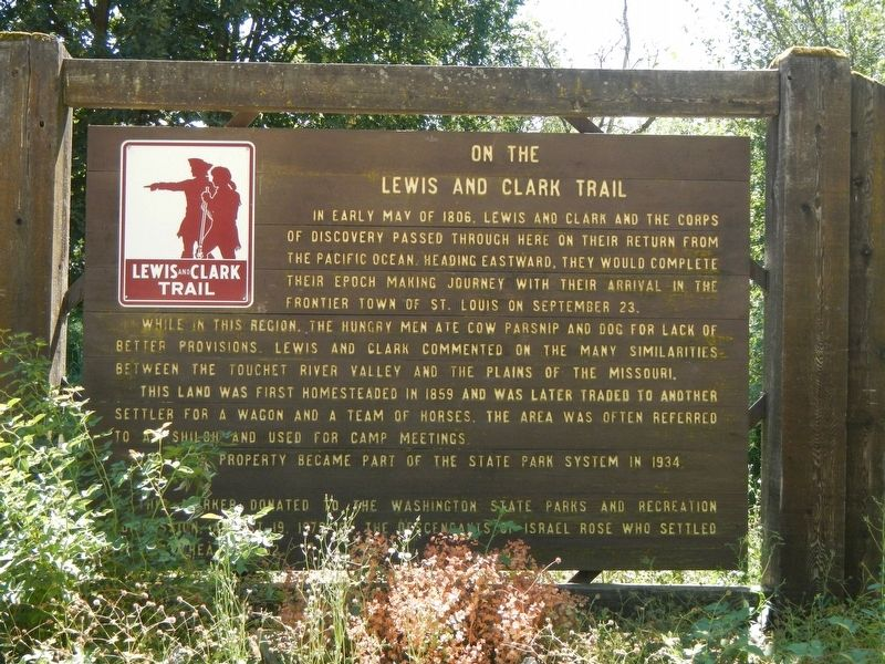 On The Lewis and Clark Trail Marker image. Click for full size.