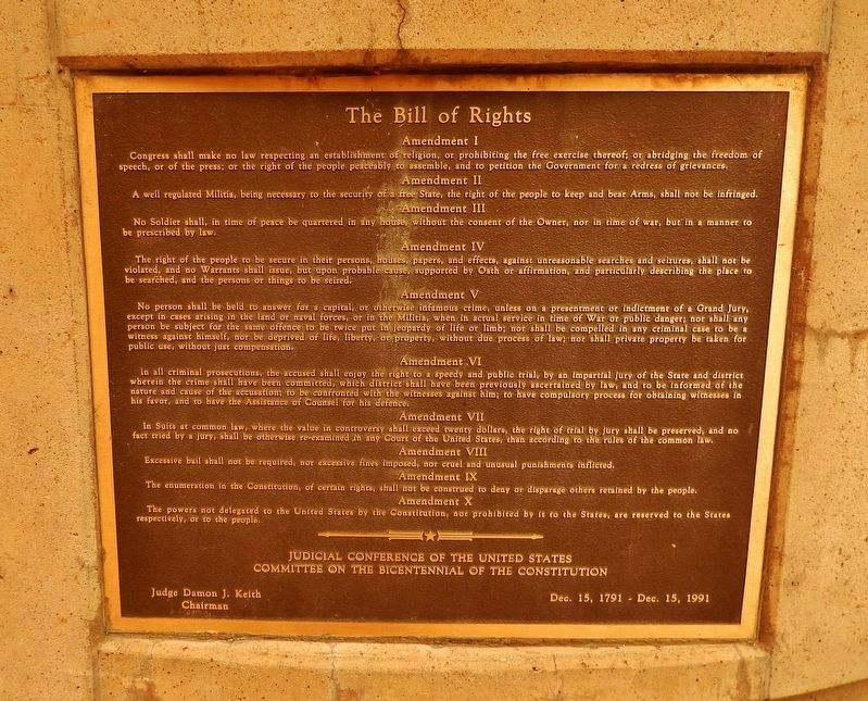 The Bill of Rights Marker image. Click for full size.