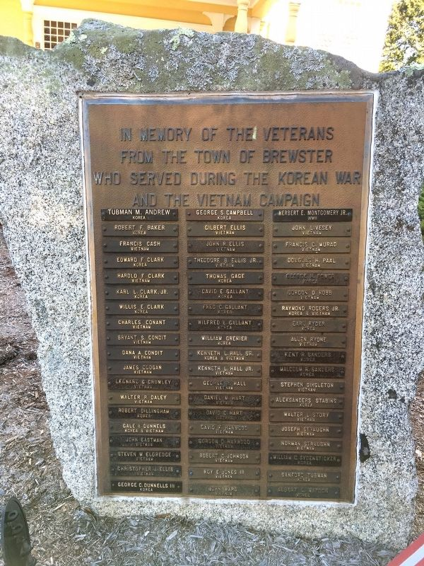 Town of Brewster Korean War and Vietnam Campaign Memorial image. Click for full size.